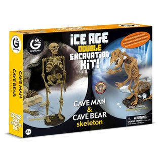 Geoworld Ice Age Double Excavation Kit with Cave Man and Cave Bear