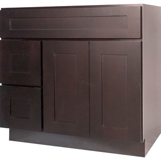 Everyday Cabinets 36-inch Dark Espresso Shaker Bathroom Vanity Cabinet
