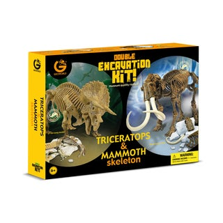 Geoworld Double Excavation Kit Triceratops and Mammoth
