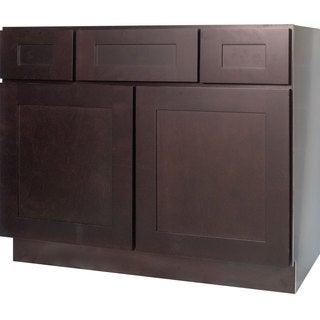Everyday Cabinets 48-inch Dark Espresso Shaker Bathroom Vanity Cabinet