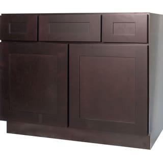 Everyday Cabinets Dark Espresso Shaker 42-inch Bathroom Vanity Cabinet