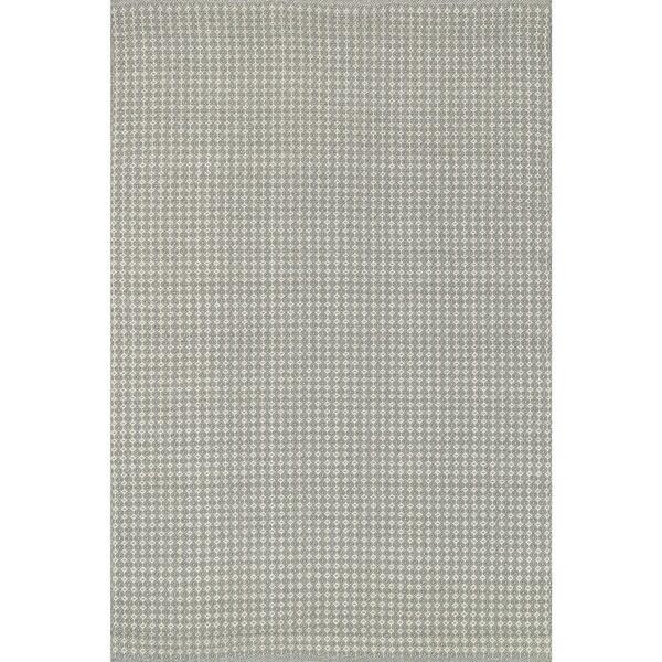 Indoor/ Outdoor Earth Tone Flatweave Pewter Rug - 7'6 x 9'6