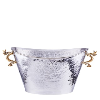 Old Dutch 'Dragon' Handle Silver Stainless Steel Oval Party Tub
