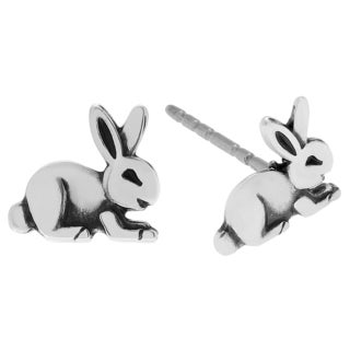 Journee Collection Sterling Silver Rabbit Stud Earrings