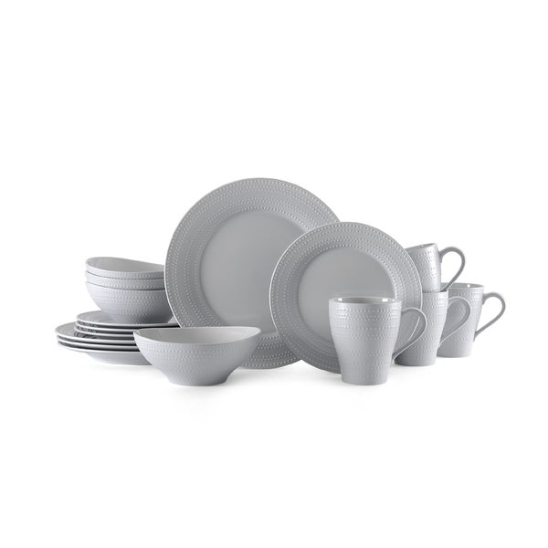 Mikasa Ryder Grey 16-piece Dinnerware Set  sc 1 st  Overstock & Mikasa Ryder Grey 16-piece Dinnerware Set - Free Shipping Today ...