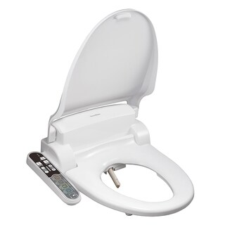 SmartBidet Electric Bidet Seat with Attached Control Panel for Round Toilets