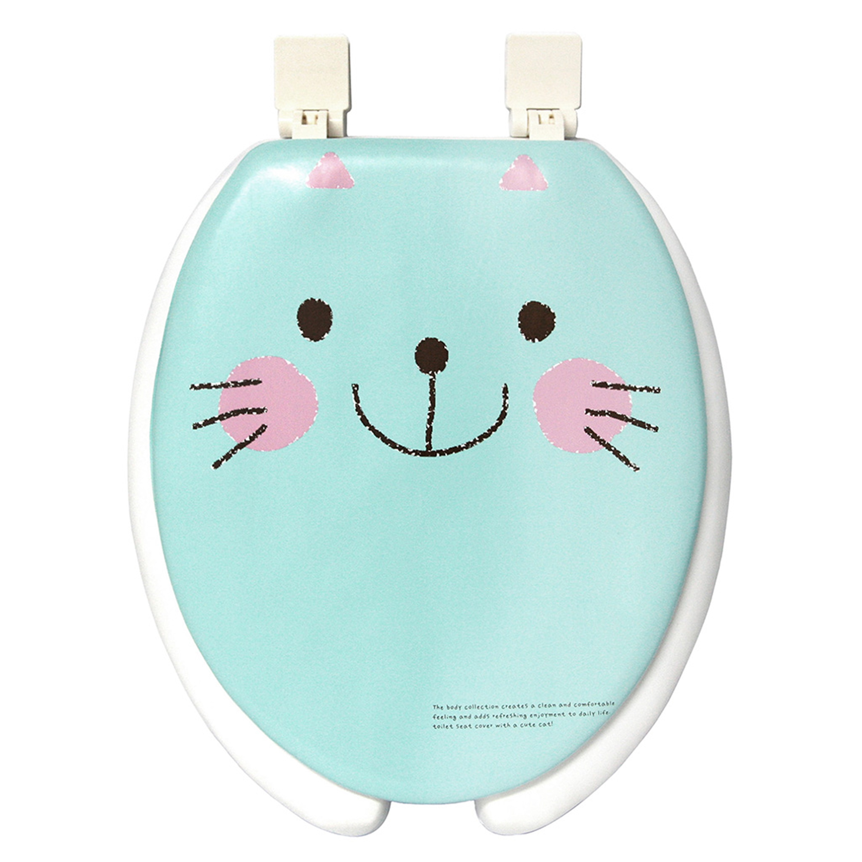 Happy Seat Cat Soft Padded Round Toilet Seat with Plastic...