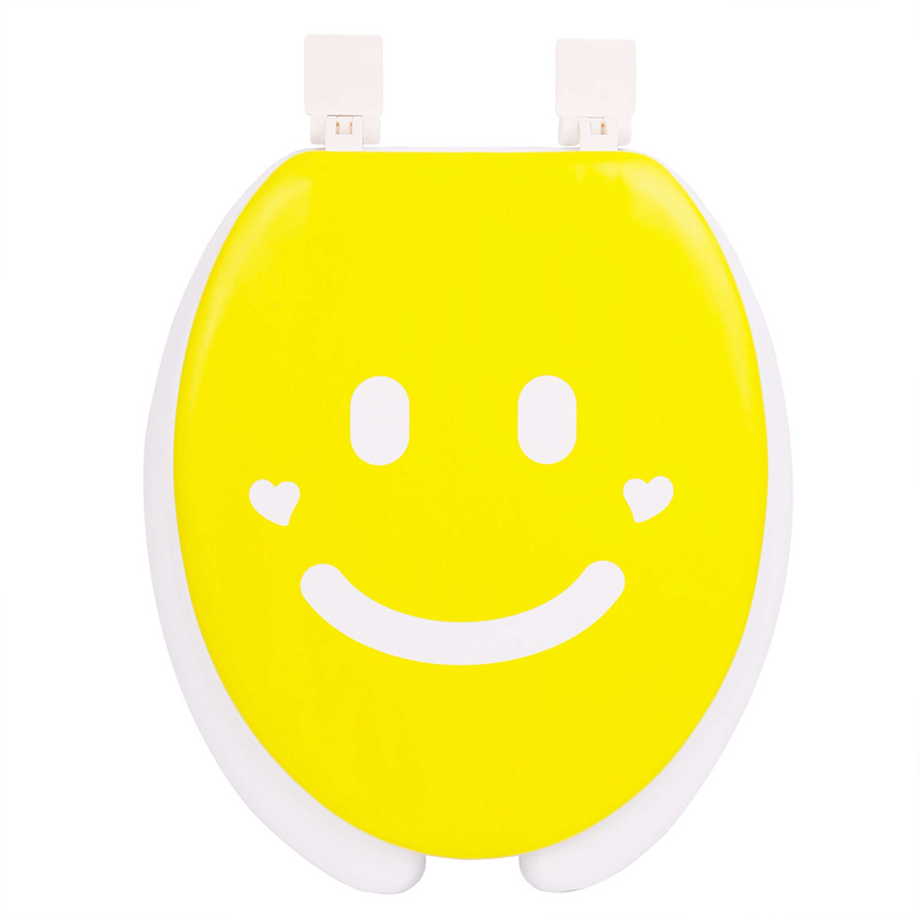 Happy Seat Smile Soft-padded Round Toilet Seat with Plast...