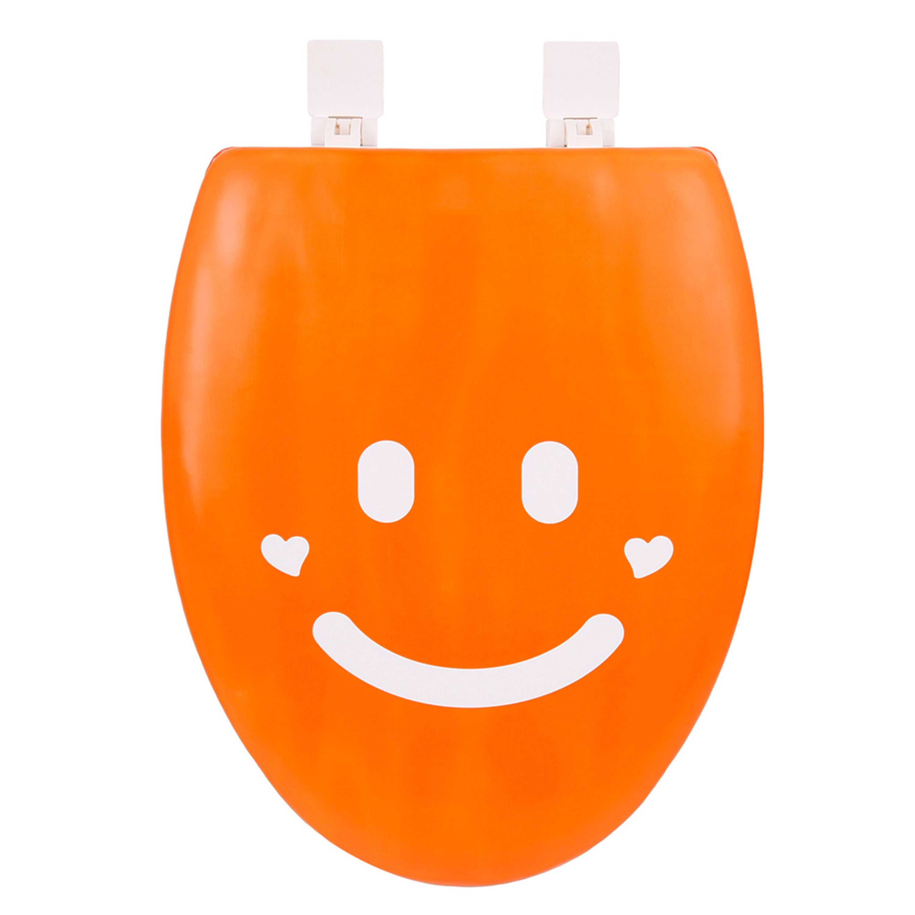 Happy Seat Smile Soft Padded Elongated Toilet Seat with P...