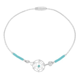 Journee Collection Sterling Silver Dreamcatcher Beaded Bracelet