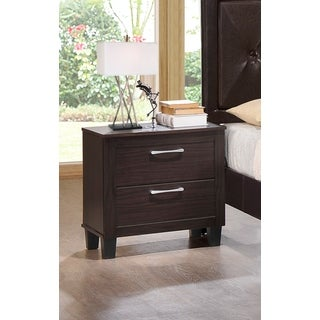 Lyke Home Bianca Walnut Veneer/MDF/Laminate Nightstand