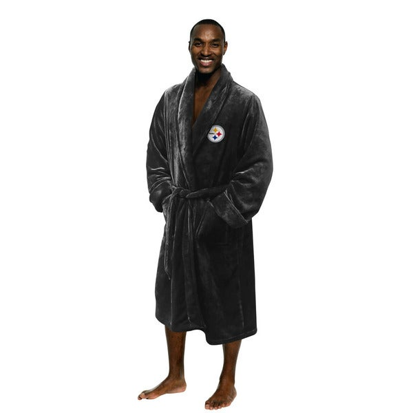 NFL 349 Steelers Grey Men's L/XL Bathrobe