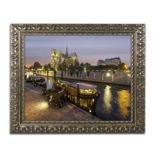 Mathieu Rivrin 'Notre Dame de Paris in Colors' Ornate Framed Art