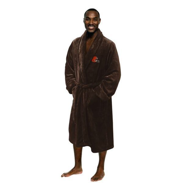 NFL 349 Browns Men's L/XL Bathrobe
