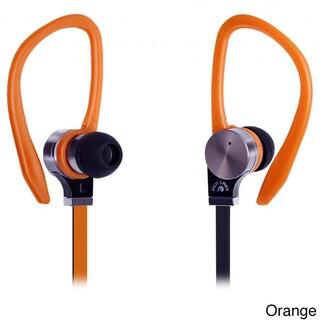 Fuji Labs Sonique SQ306 Black Premium Titanium In-line Mic In-ear Headphones (Option: Orange)