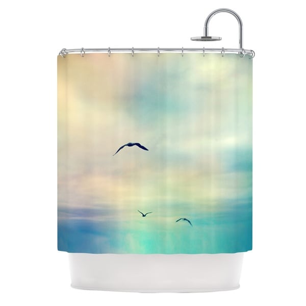 Kess InHouse Sylvia Cook 'Freedom' Birds Sky' Shower Curtain (69x70)