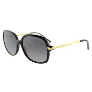 Michael Kors Adrianna II Black Plastic Square Sunglasses With Grey Gradient Lenses