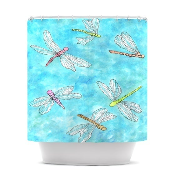 Kess InHouse Rosie Brown 'Dragonfly' Shower Curtain (69x70)