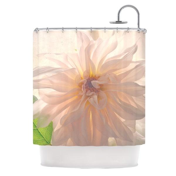 Kess InHouse Robin Dickinson 'Buy Her Flowers' White Pink' Shower Curtain (69x70)