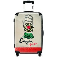 iKase Frida Kahlo Right Hand and Heart  ,Carry-on 20-inch,Hardside, Spinner Suitcase