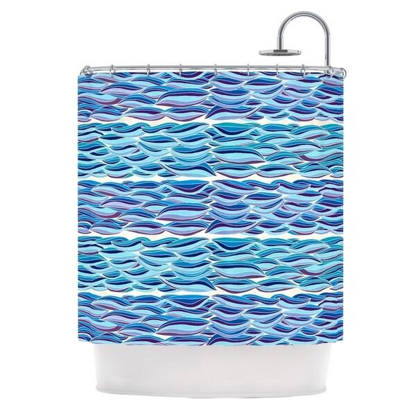 Kess InHouse Pom Graphic Design 'The High Sea' Shower Curtain (69x70)