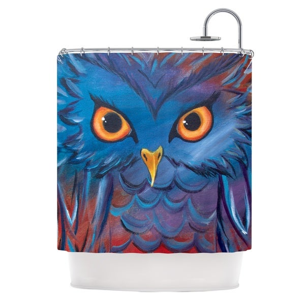 Kess InHouse Padgett Mason 'Hoot' Shower Curtain (69x70)