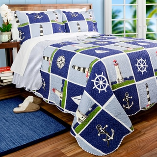 Slumber Shop Nautical Light House 3-piece Quilt Set