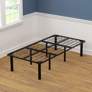 Twin Size Black Steel Bed Frame