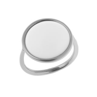 Calvin Klein Stainless Steel White Glass Fashion Ring