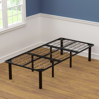 handy living xl twin size black steel bed frame