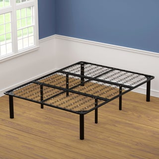 Queen Size Black Steel Bed Frame