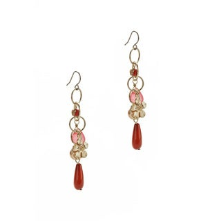 Relic Gold Overlay Crystal Earrings