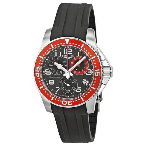 Longines Men's L36904592 'HydroConquest' Chronograph Black Rubber Watch