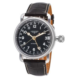 Longines Men's L27784532 'Avigation' Automatic Black Stainless Steel Watch