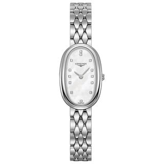 Longines Women's L23054876 'Symphonette' Diamond Stainless Steel Watch