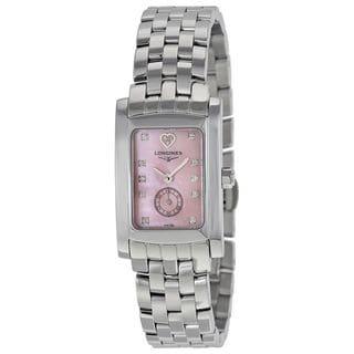 Longines Women's L51554936 'Dolce Vita Limited Edition Audrey Hepburn' Heart Diamond Stainless Steel Watch
