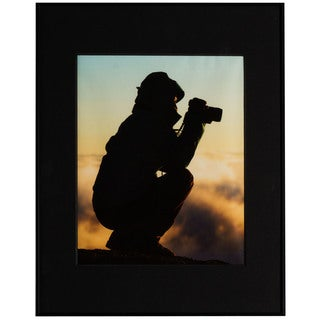 Artcare Black Aluminum 11-inch x 14-inch Matted Photography Frame