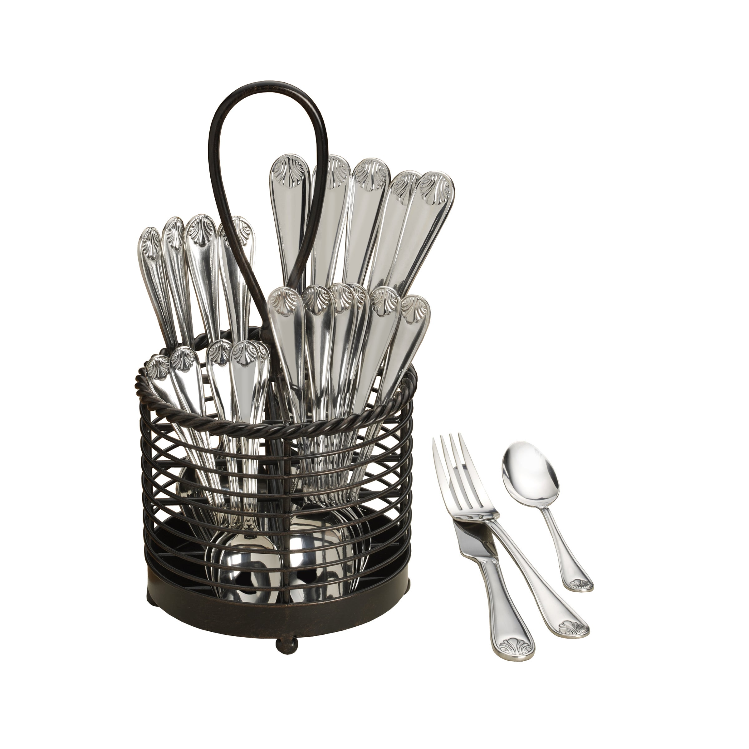 Towle Everyday Sandy Shores Silver Stainless Steel 32-pie...