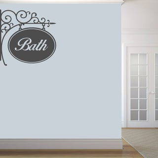 Bath Sign' 36 x 36-inch Wall Decal