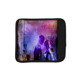 KESS InHouse alyZen Moonshadow 'Couple In Love' Purple Pink Luggage Handle Wrap