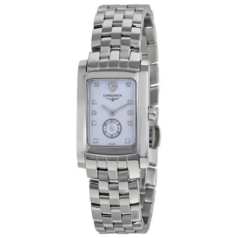 Longines Women's L51554926 'Dolce Vita Limited Edition Audrey Hepburn' Heart Diamond Stainless Steel Watch