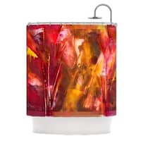 Kess InHouse Malia Shields 'Warmth' Orange Red' Shower Curtain (69x70)