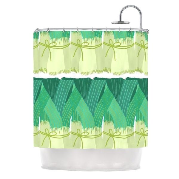 Kess InHouse Laura Nicholson 'Leeks' Shower Curtain (69x70)
