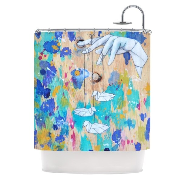Kess InHouse Kira Crees 'Origami Strings' Shower Curtain (69x70)
