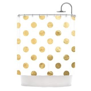 Kess InHouse KESS Original 'Scattered Gold' Metallic' Shower Curtain (69x70)