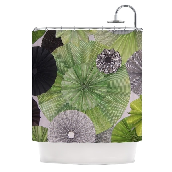 Kess InHouse Heidi Jennings 'Serenity' Green Grey' Shower Curtain (69x70)