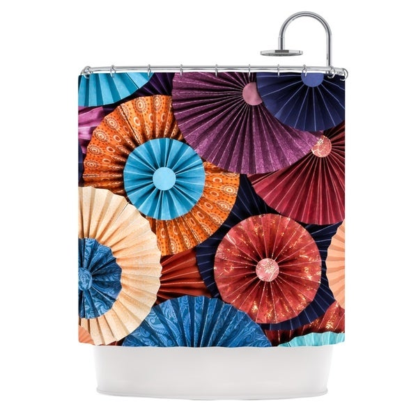 Kess InHouse Heidi Jennings 'Moroccan' Multicolor' Shower Curtain (69x70)
