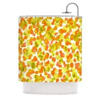 Kess InHouse Ebi Emporium 'Giraffe Spots - Orange' Orange Yellow' Shower Curtain (69x70)