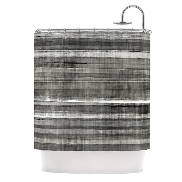 Kess InHouse CarolLynn Tice 'Grey Accent' Dark Neutral' Shower Curtain (69x70)