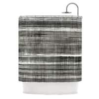 Kess InHouse CarolLynn Tice 'Grey Accent' Dark Neutral' Shower Curtain (69x70)